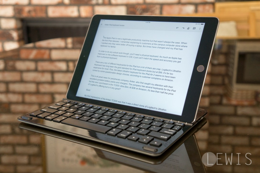 Anker ultra-slim keyboard for iPad Air and Air 2