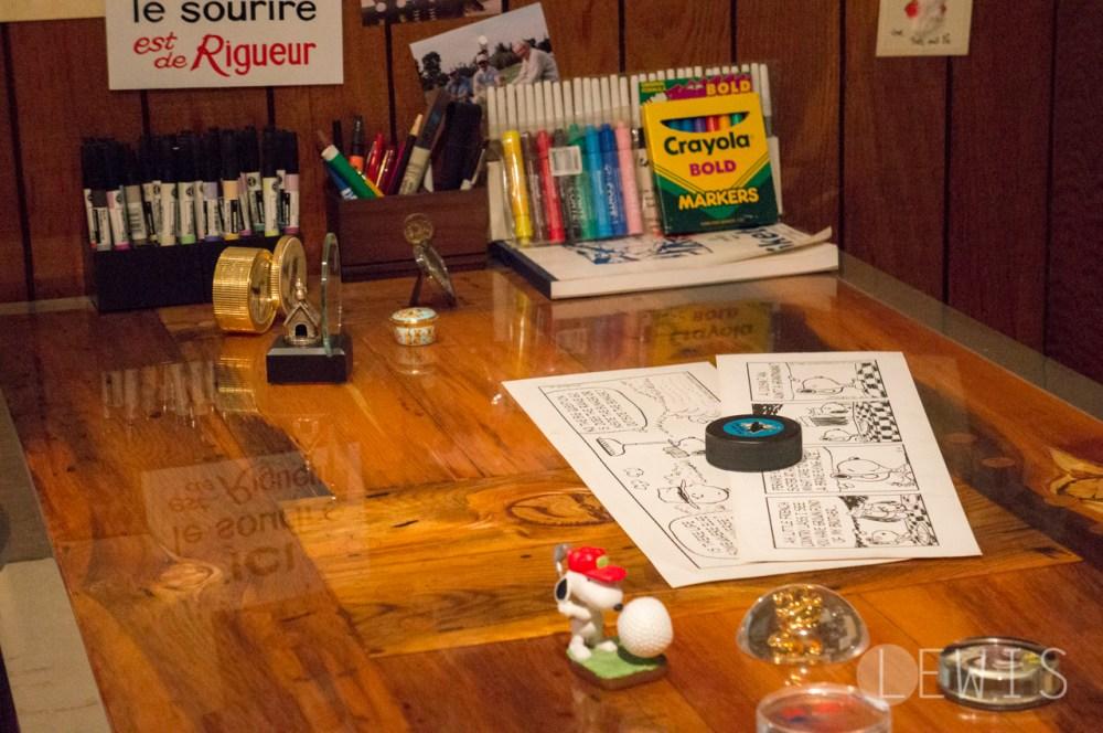 Charles Shultz's desk