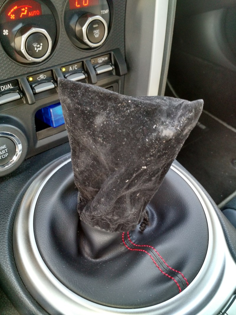 Subaru BRZ terrorist bag shift knob cover