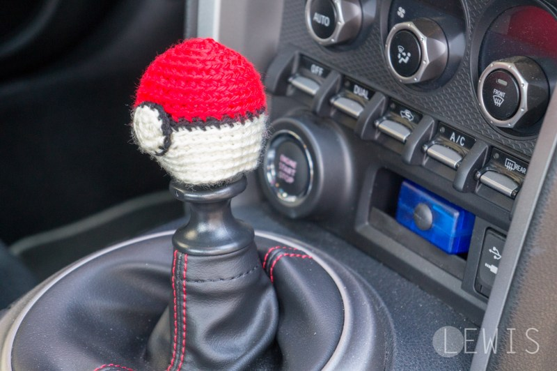 Pokeball shift knob cover-3
