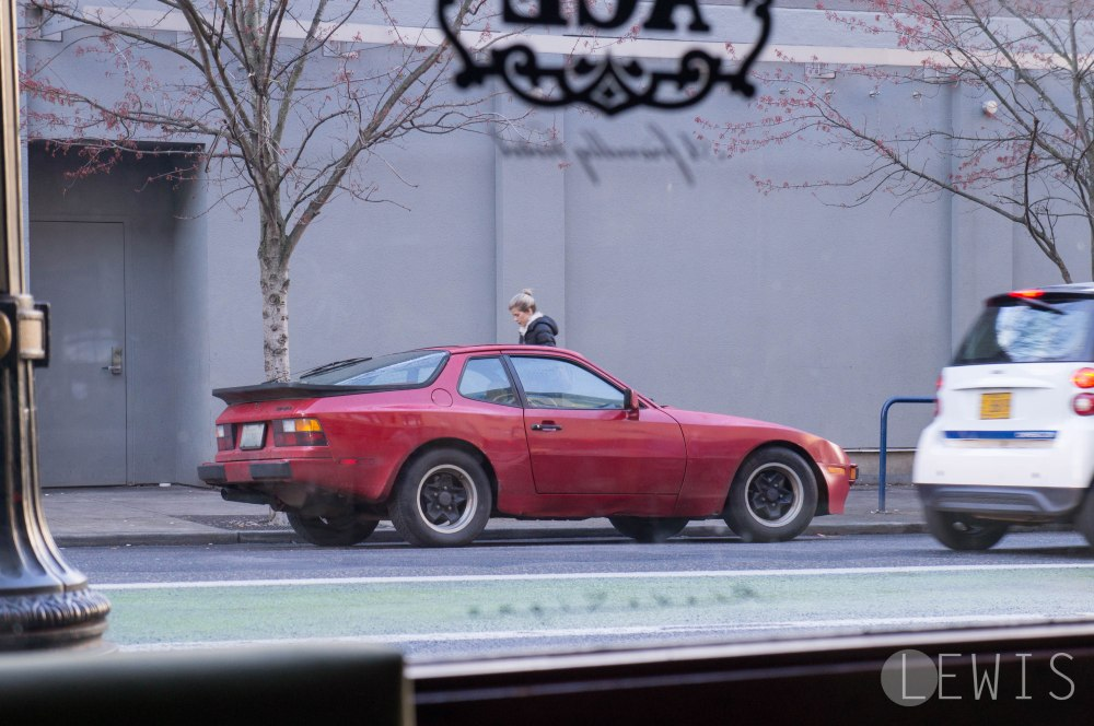 Porsche 944 in front of the Ace Hotel, Portland, OR