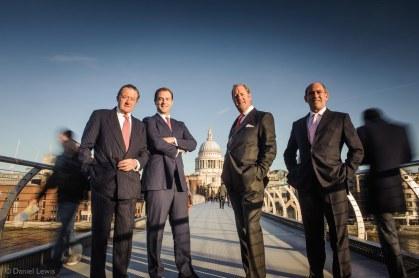 The Board of Wellesley & Co, photographed on The Millennium Bridge, London. © Daniel Lewis 2013