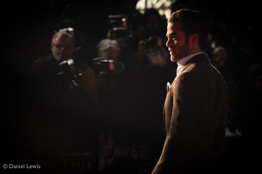 Chris Pine on the red carpet in Leicester Square