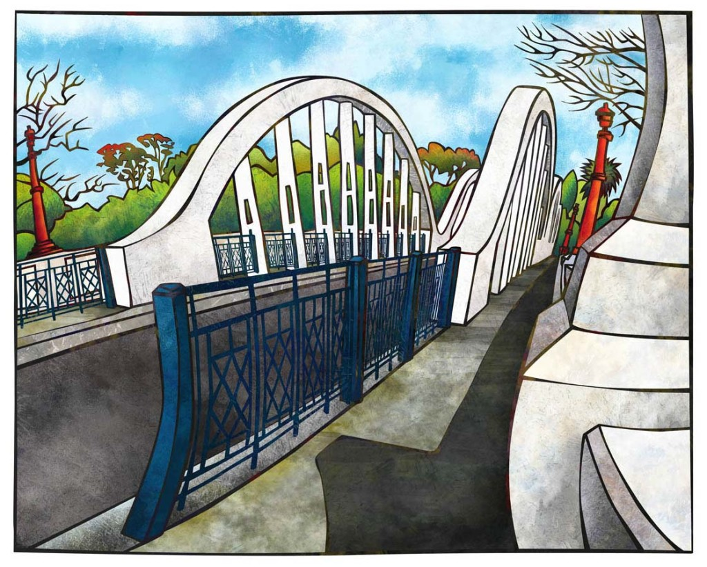 Fairfield Bridge, Hamilton by NZ Artist, Sam Lewry