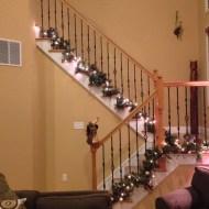 Pinterest inspired stair case decor
