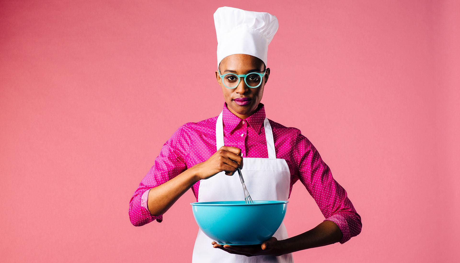 teen baking