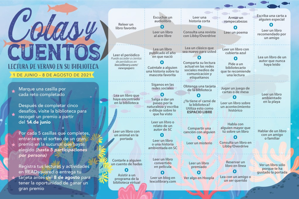 summer reading tracking sheet spanish