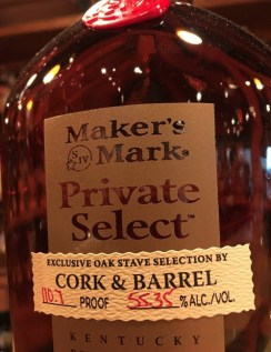 Cork and Barrel Private Selection Bourbon from the Maker's Mark Exclusive Oak Stave Barrel Program (7)