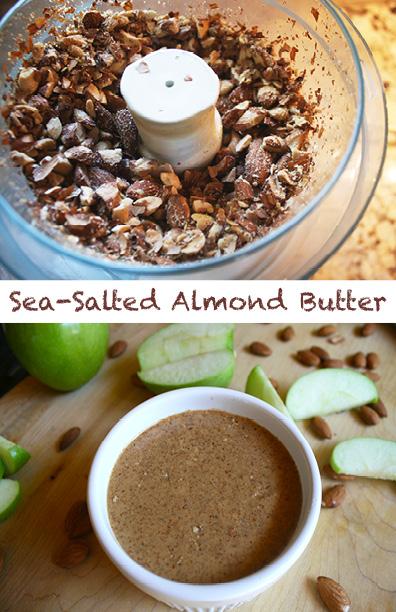 Homemade Sea-Salted Almond Butter from LexEats.com
