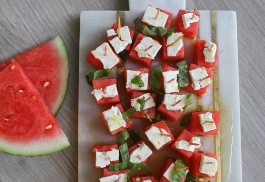 Watermelon Feta Bites on lexeats.com