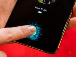 Vivo onscreen Fingerprint reader