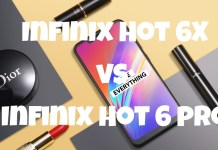 Infinix hot 6x vs infinix hot 6 pro