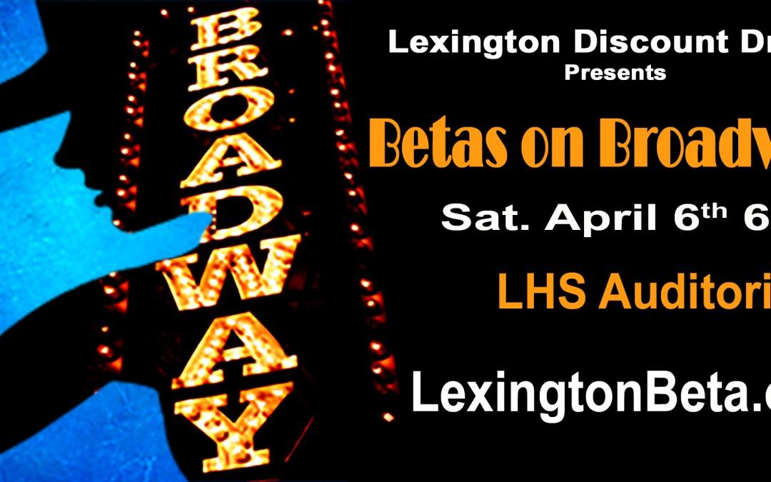 Betas on Broadway Benefit