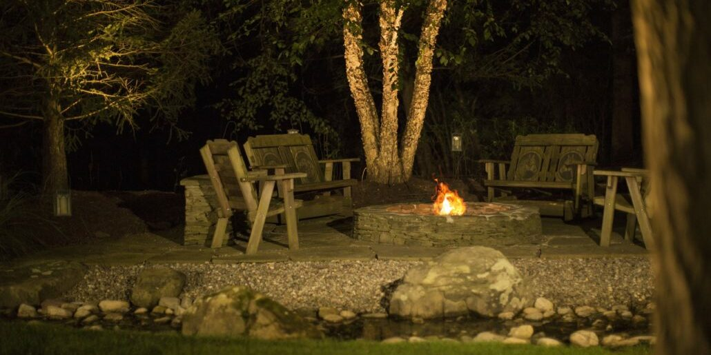 fire pit outdoor lighting lexington
