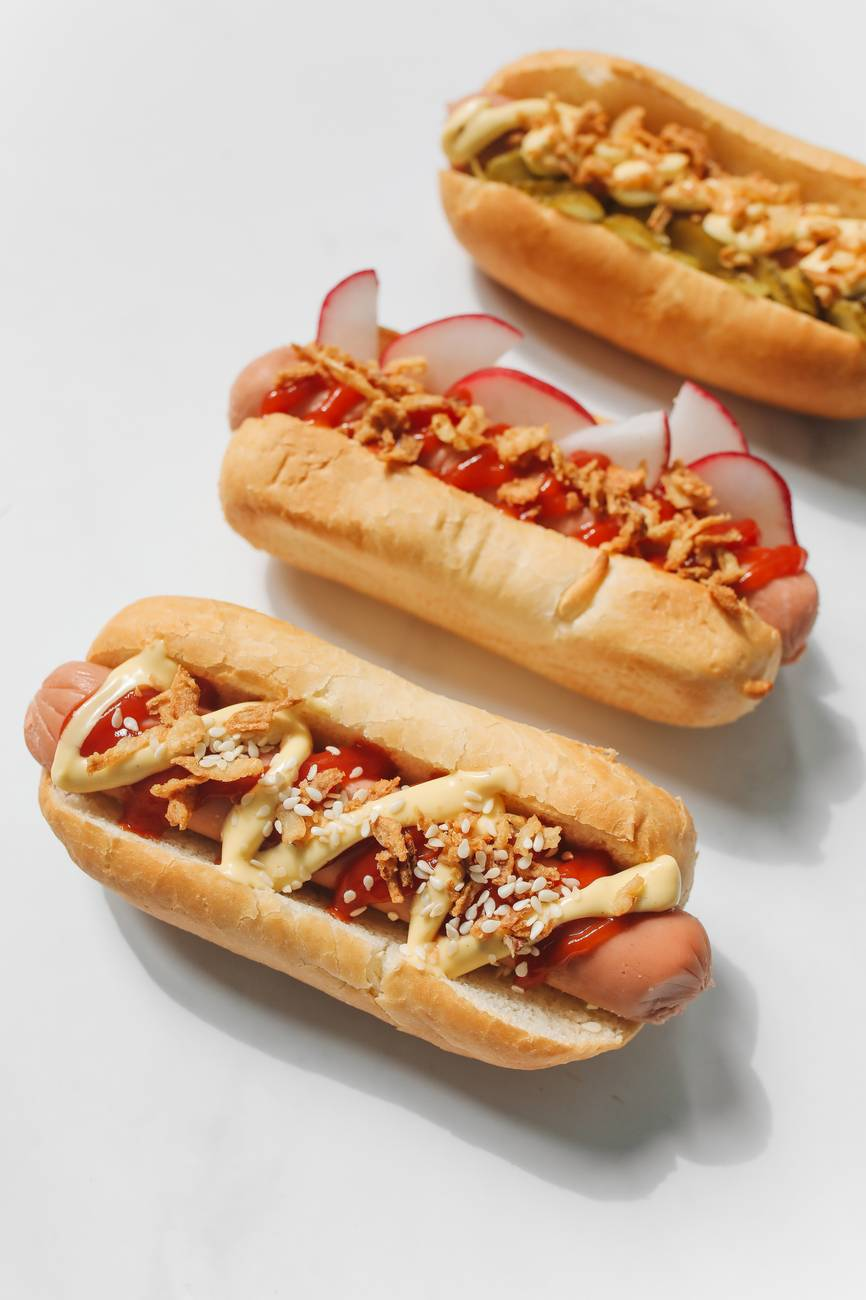 hotdog sandwiches with ketchup
