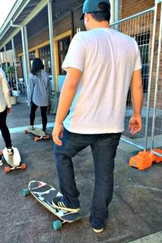 Richard learning to Skateboard