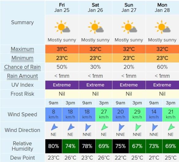 weather jan 25-28