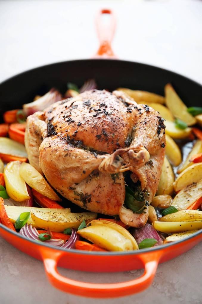 Lexi's Clean Kitchen | One Pan Roast Chicken Dinner