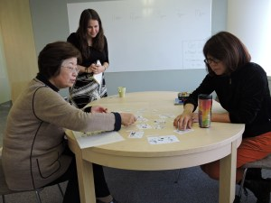 Japanese teachers taking the placement test