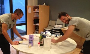 carmine and luca hard at work