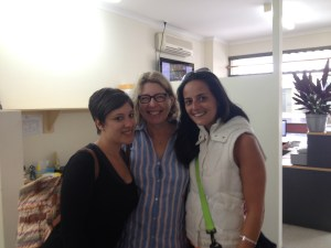 Meret, former teacher Deborah Glover and Mariana