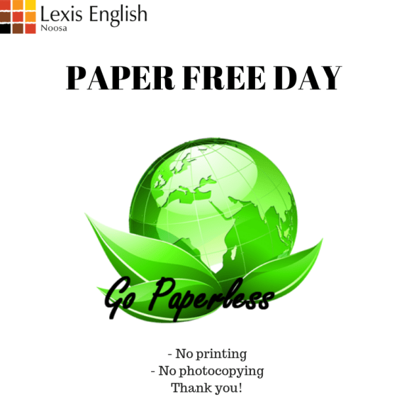 PAPER FREE DAY Sign
