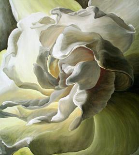 A glowing gardenia