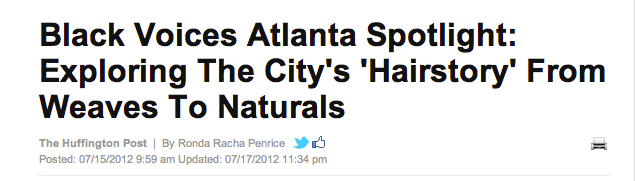 Huffington Post's Spotlight- 'HairStory' Of Atlanta