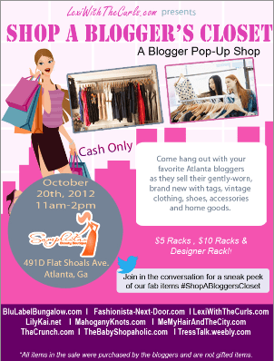Shop A Blogger's Closet ATLANTA Oct 20th! Join Us!