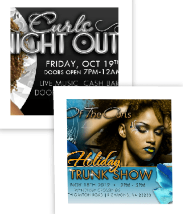 Virginia Hair Events! Curls Night Out & Return Of The Curls
