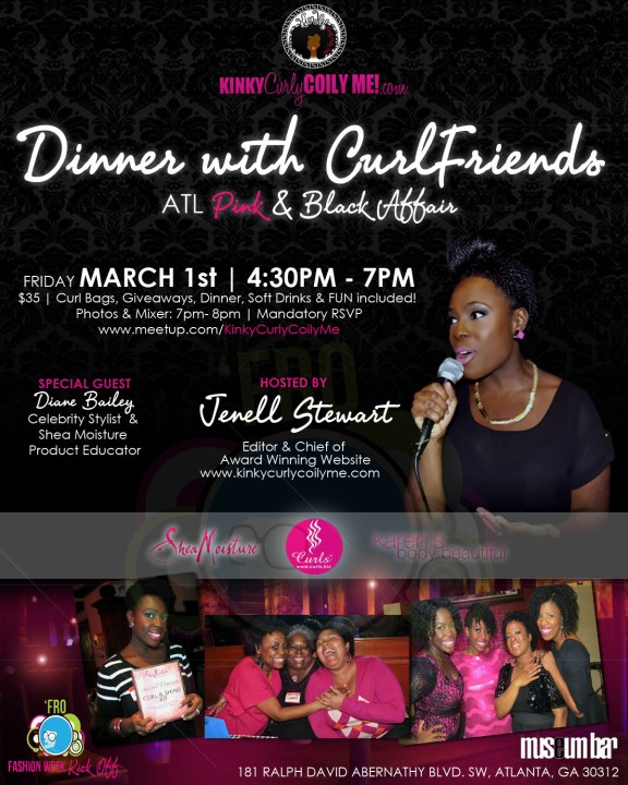 Dinner with CurlFriends FRO WEEK FLYER