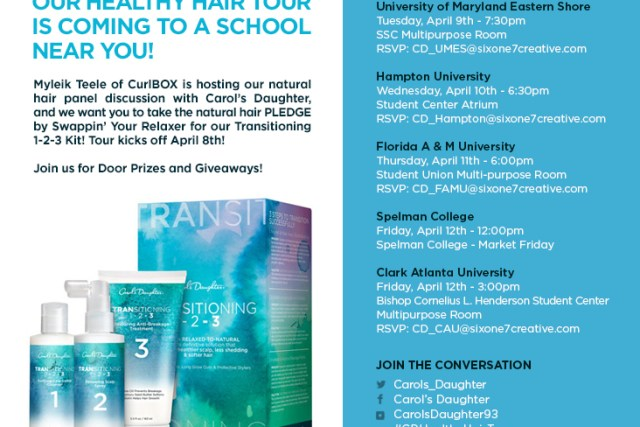 The Carol's Daughter Healthy Hair Tour! 6 HBCU's in 5 Days