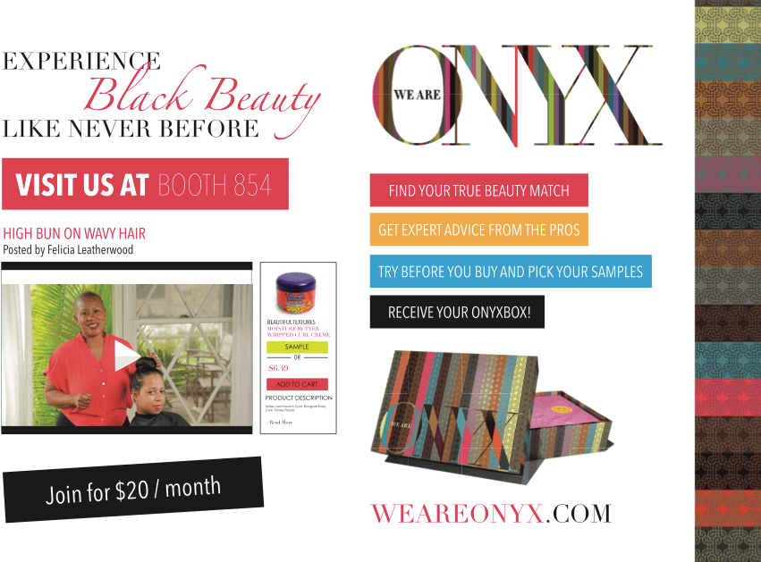 Hair Show- Join Me At The We Are ONYX Booth Sat-Sun