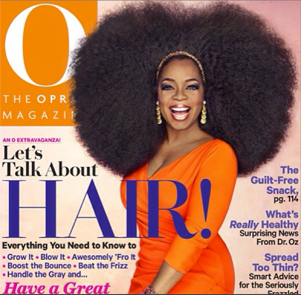 "Oprah's New O Magazine ""Let's Talk About Hair"" Issue"