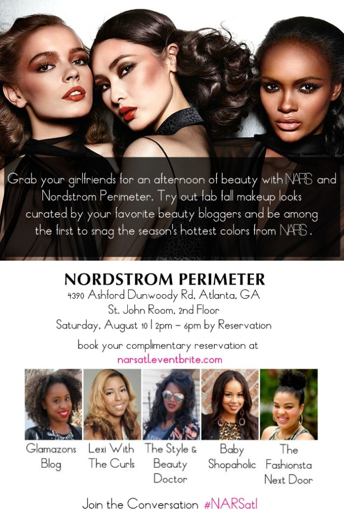 Join Us For An Afternoon Of Beauty With NARS Saturday! (Atlanta)