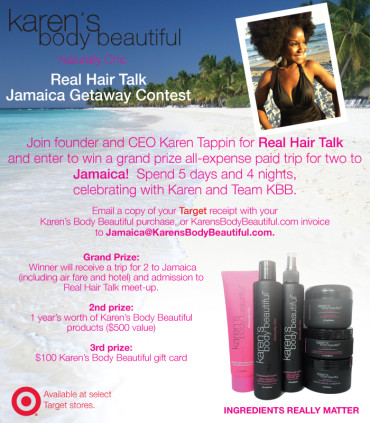 Karen's Body Beautiful Real Hair Talk Jamaica Getaway Contest