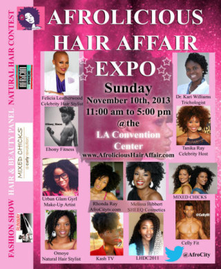 LA! Get Your Tickets For Afrolicious Hair Affair Expo 11/10