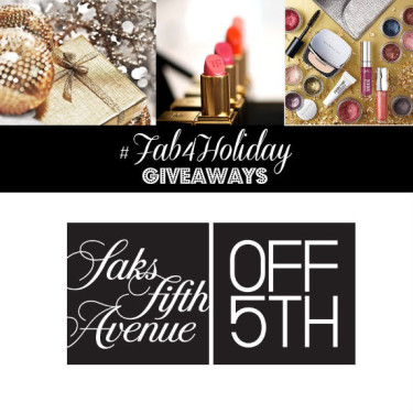 Day 4- SAKS Off 5th $100, $75, $50 Gift Cards! (3 Winners)
