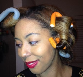 Flexi Rods On Wavy/Straight Hair
