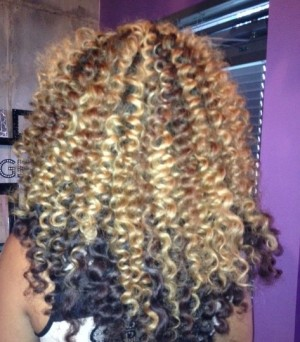 Curling Wand Fun On Natural Hair & Extensions