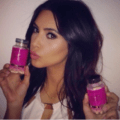 kim kardashian using hairfinity for hair growth with no weave