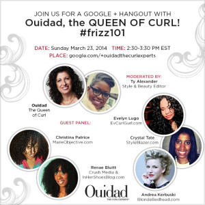 Join Ouidad For A Google Hangout Sunday #FRIZZ101