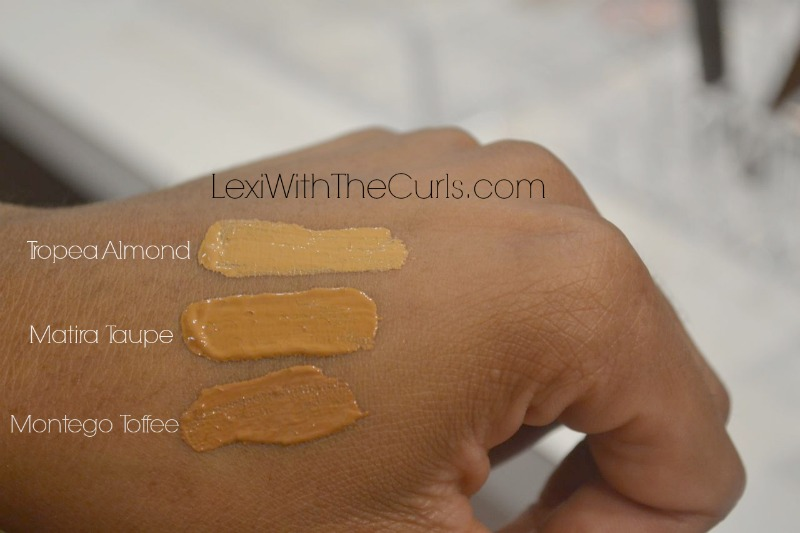 shea foundation tropea almond matira taupe montego toffee swatch shea moisture sheer liquid foundation