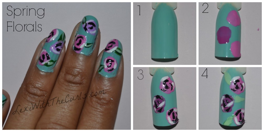 spring floral nails how to tutorial