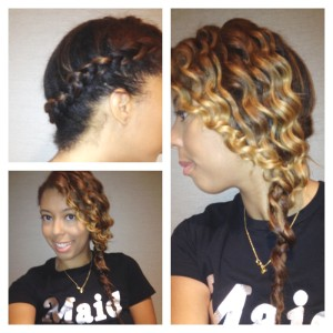 Formal Hairstyle On Natural Hair