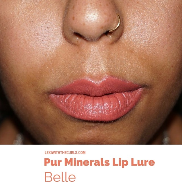 belle lip lure pur minerals swatch ulta