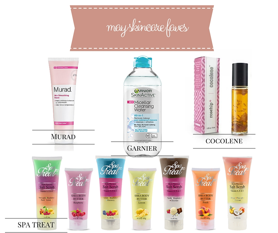 May Skincare Favorites @MuradSkincare @CocoleneUSA @Spa_Treat @GarnierUSA