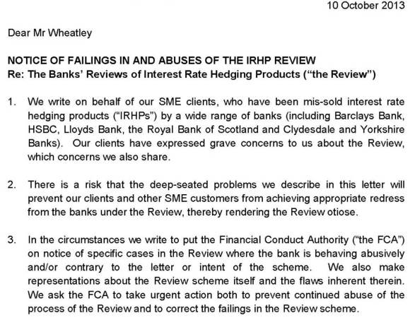 Appeal IRHP review; IRHP redress appeal; FSA; FCA; Swaps; Derivatives; IRHP; IRHP Review; Swaps Mis-selling; Derivatives Mis-selling; Review scheme; KPMG; Independent Reviewer; Skilled person; RBS; Royal Bank of Scotland; Barclays; Barcap; HSBC; Lloyds; NAB; Clydesdale Bank; Yorkshire Bank; LEXLAW; Swaps Solicitor; Swaps Lawyers; Financial Services Litigation; Swaps Litigation