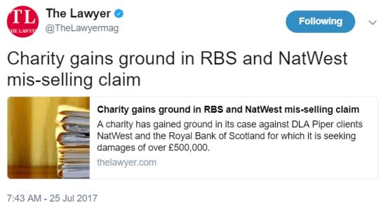 Litigation Lawyers London LEXLAW Wenta RBS Banks