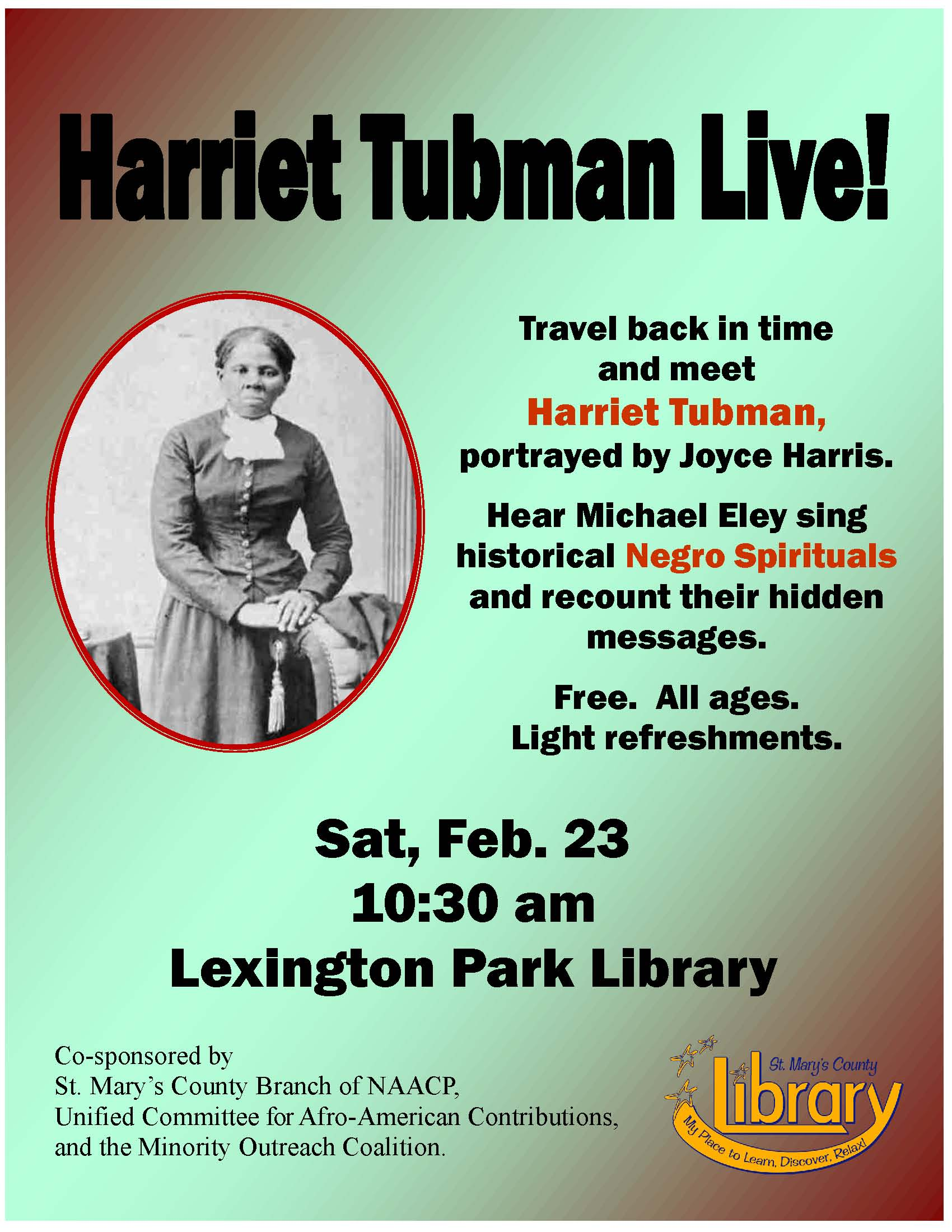 Harriet Tubman Live At The Library Lexleader